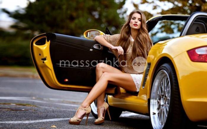 девушки и машины фото